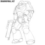 How to Draw a Space Marine
