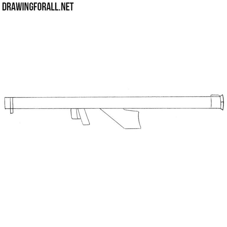 How to Draw a Bazooka for Beginners
