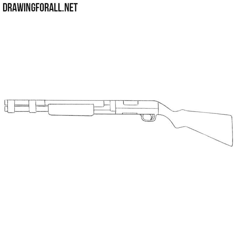How to Draw a Shotgun for Beginners