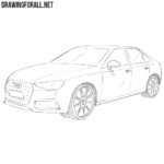 How to Draw an Audi A4