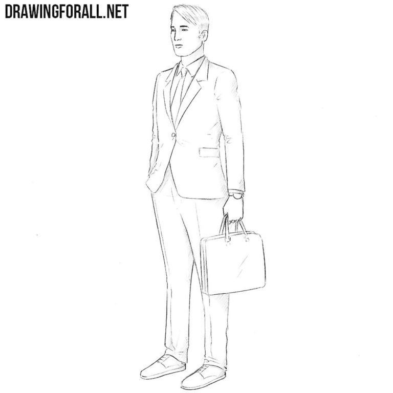 How to Draw an Insurance Agent