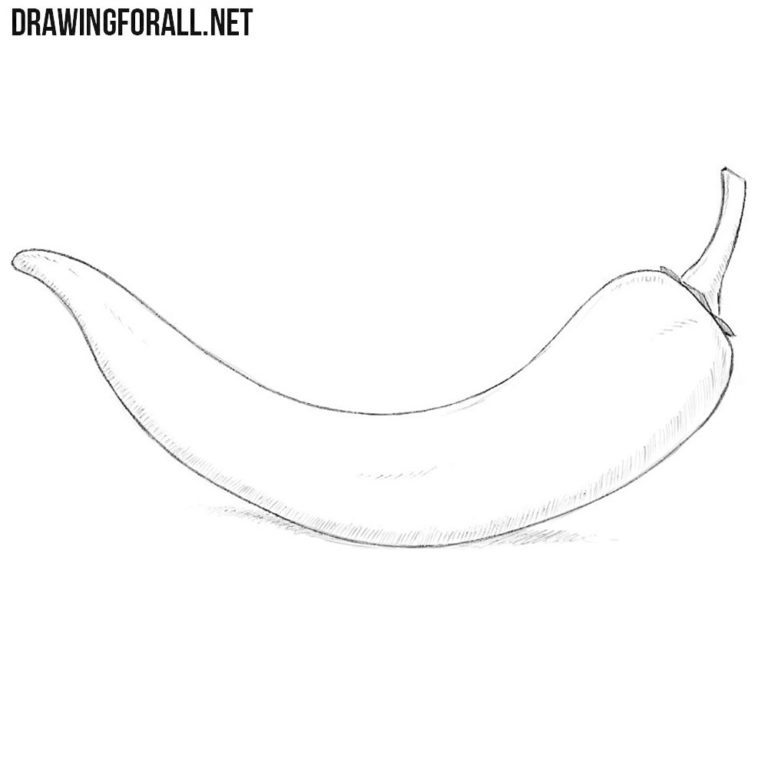 How to Draw a Chili Pepper