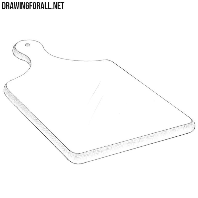 How to Draw a Cutting Board