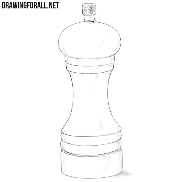 How to Draw a Pepper Mill
