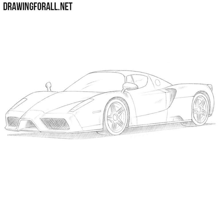 How to Draw a Ferrari Enzo