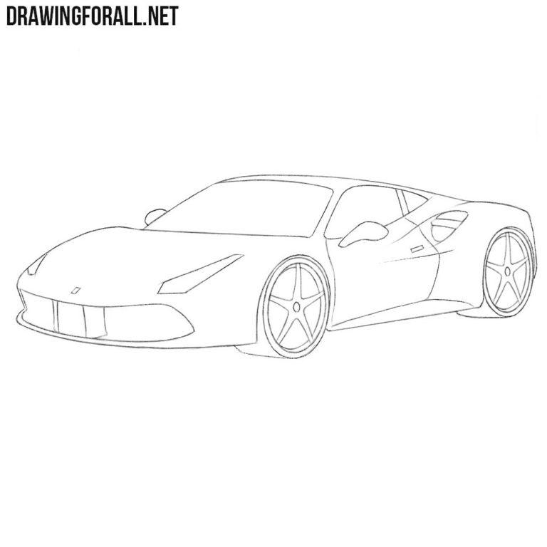 How to Draw a Ferrari Easy