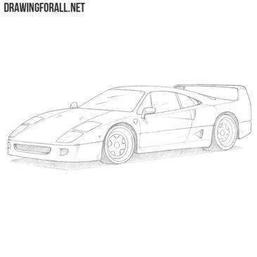 How to Draw a Ferrari f40