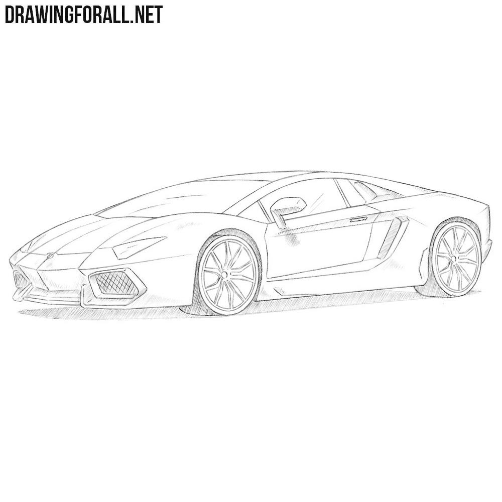Lamborghini Aventador   Gameover Inc.  Lamborghini Aventador Drawing Side View