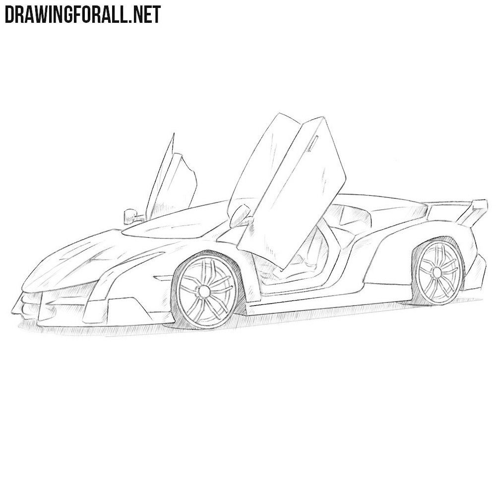 How To Draw A Lamborghini Veneno Drawingforall Net