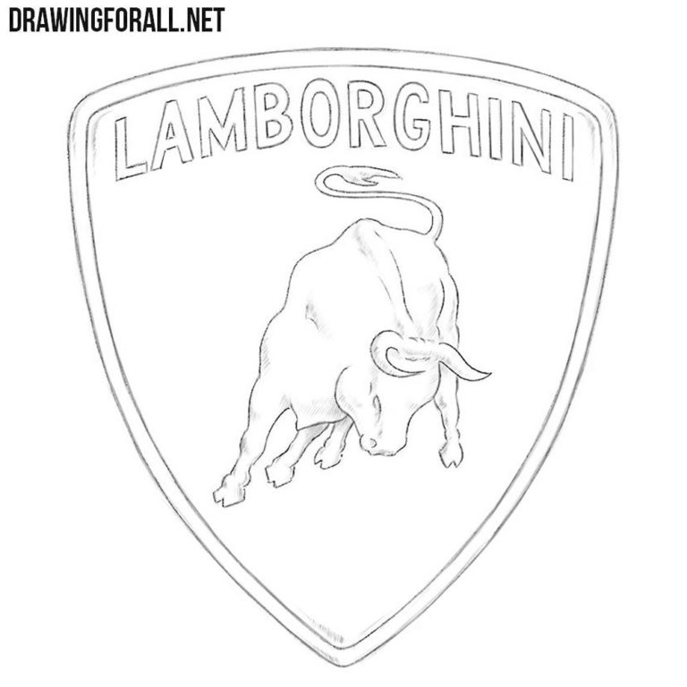 How to Draw the Lamborghini Logo