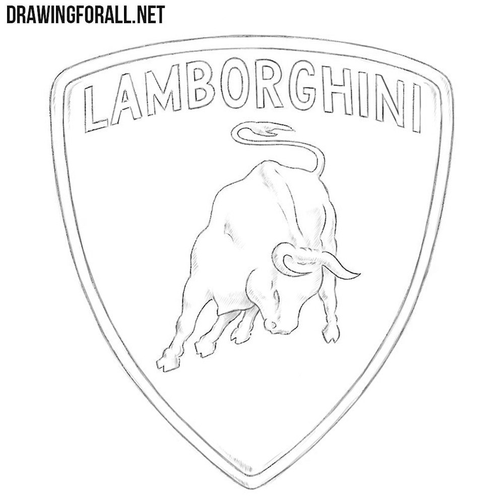 How To Draw The Lamborghini Logo Drawingforall Net