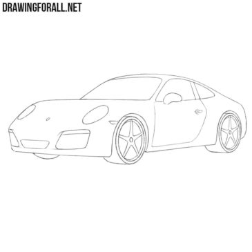 How to Draw a Porsche Easy