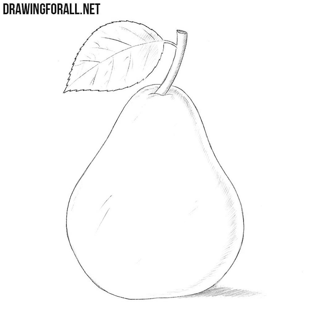 после пары яблоко и груша картинки карандашом перспективной техники для