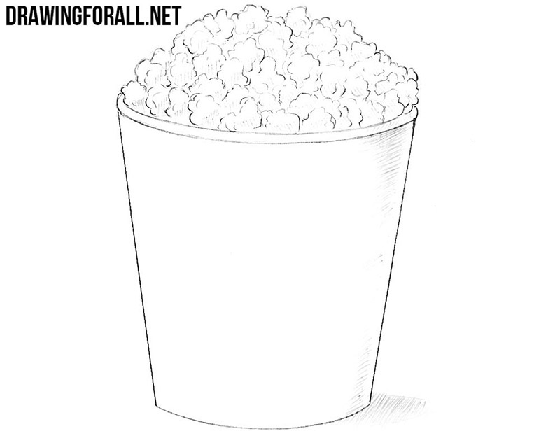 How to draw a popcorn