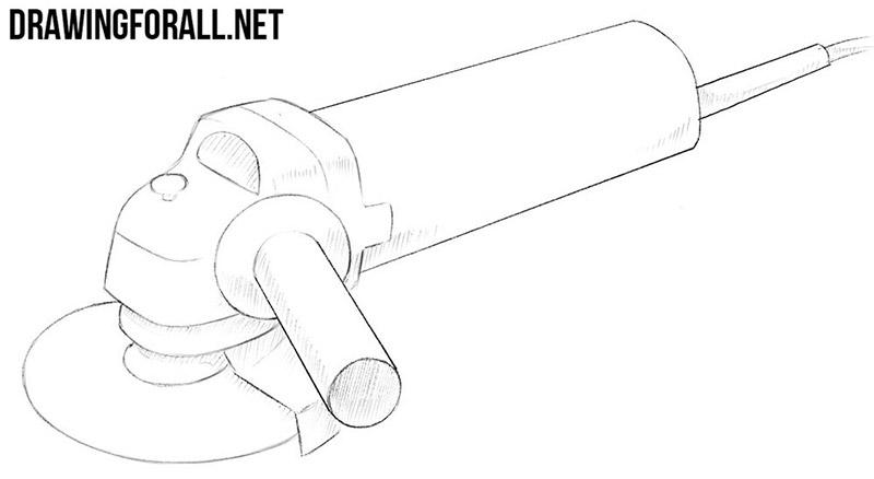 angle grinder drawing