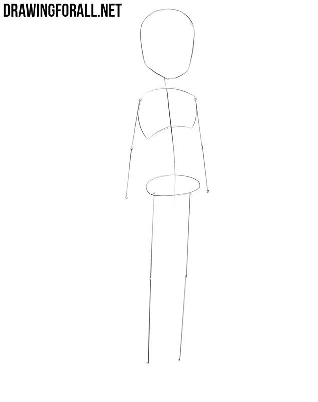 Easy anime girl drawing
