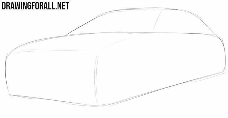Как нарисовать автомобиль поэтапно с картинками