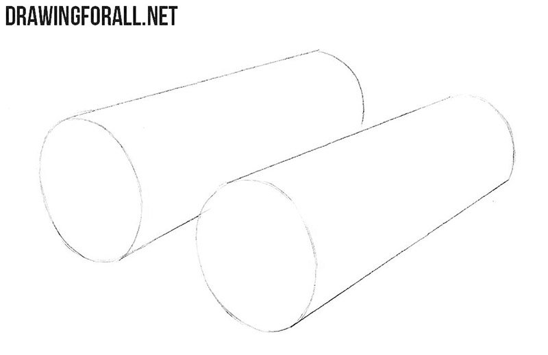 How to draw binoculars