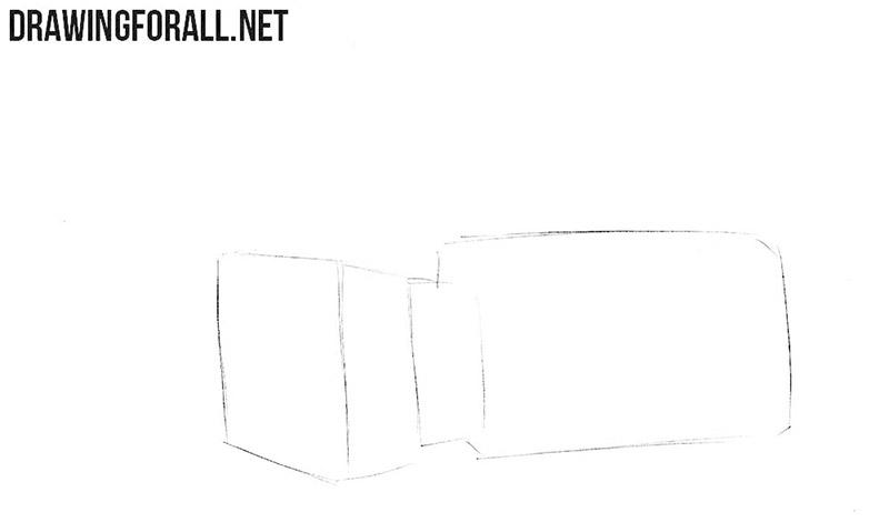 How to sketch a video camera