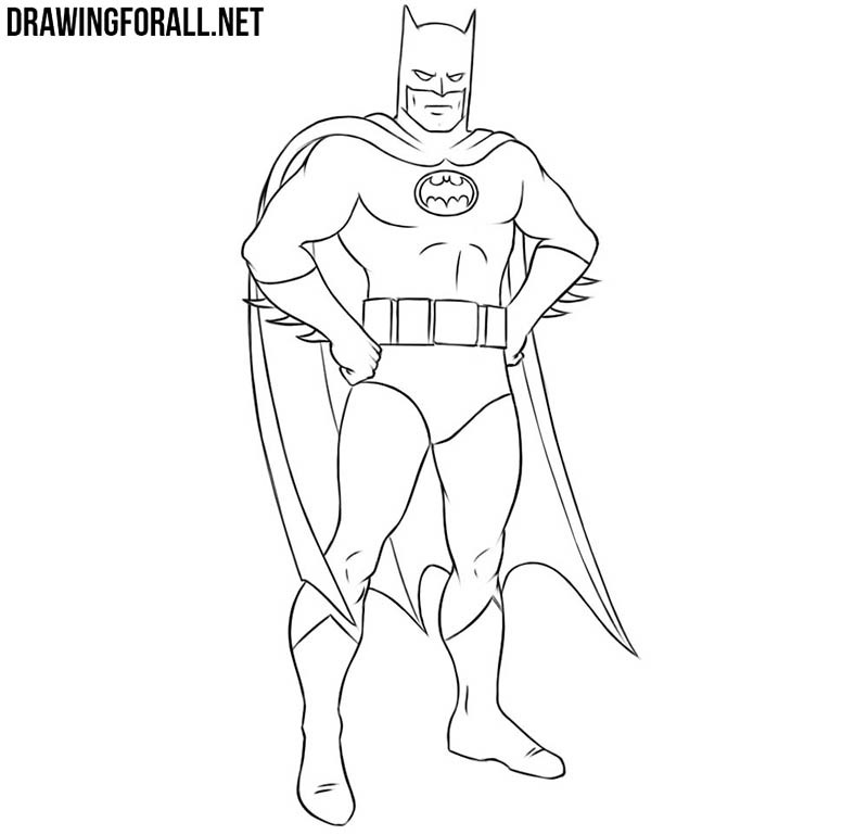 How to draw Batman easy