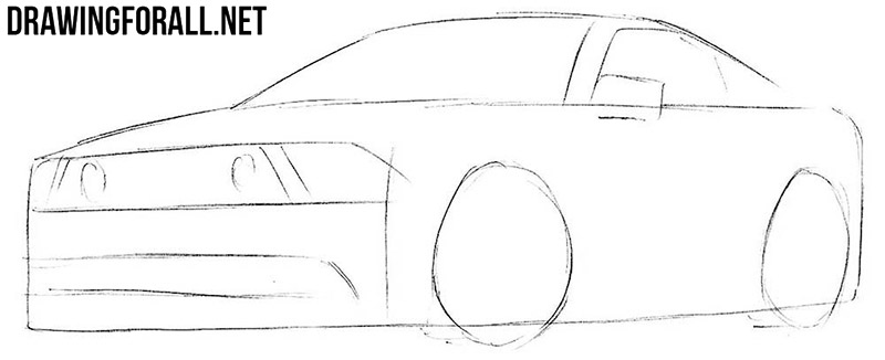 How To Draw A Muscle Car Drawingforallnet