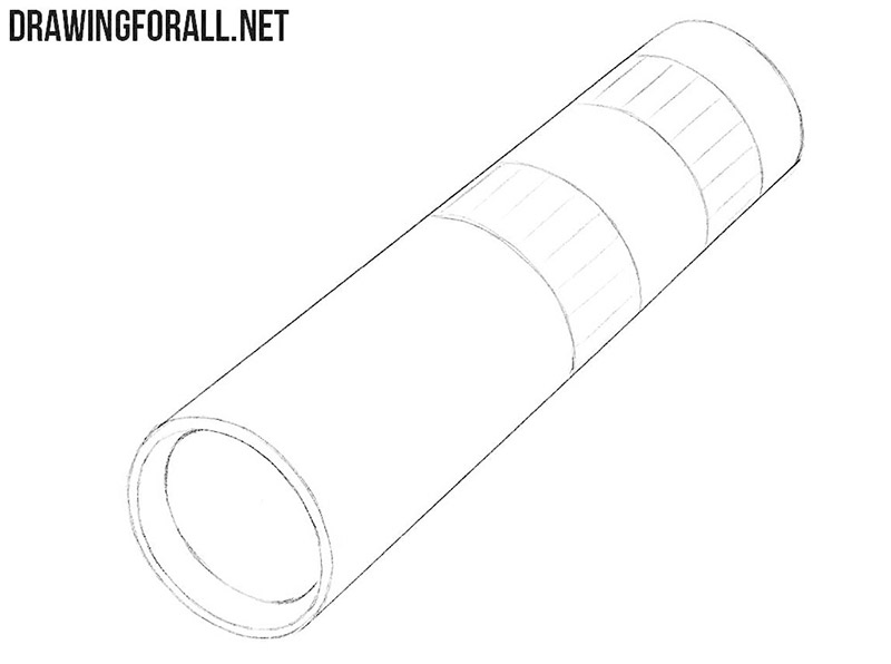 How to draw a Monoculars for beginners