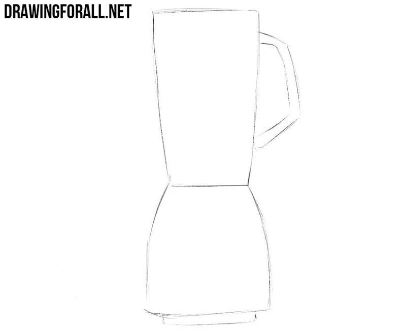 How to draw a blender for kitchen