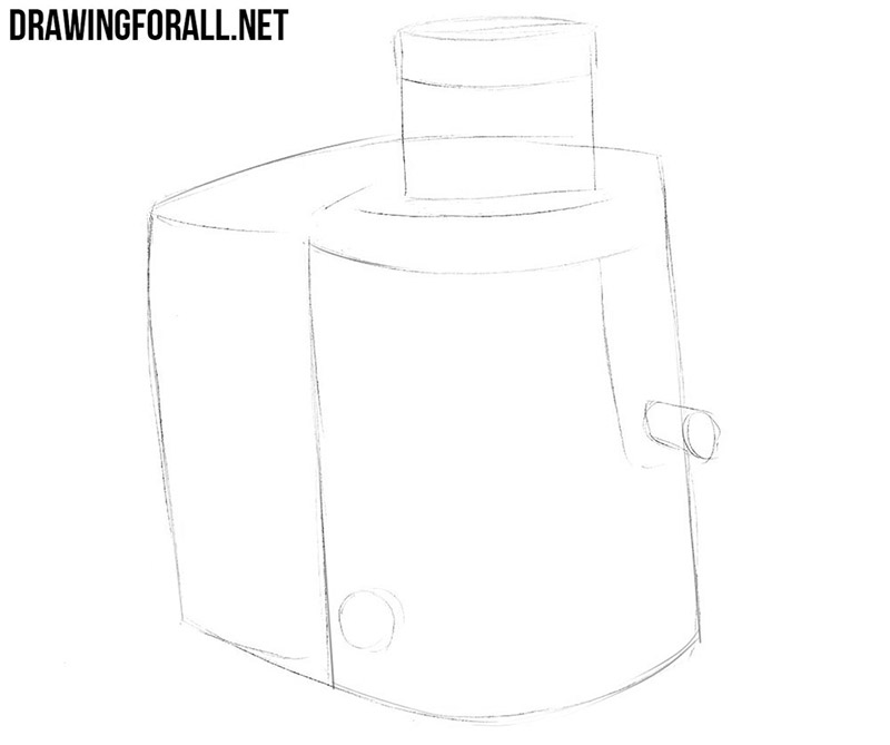 How to draw a juicer for kitchen