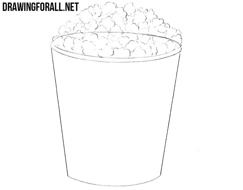 How to draw a popcorn easy