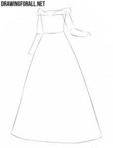 How to draw a princess dress easy