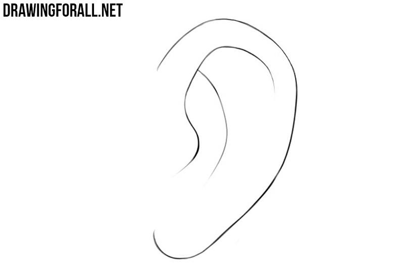 How to draw an anime ear