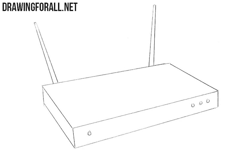 How to draw an internet Router