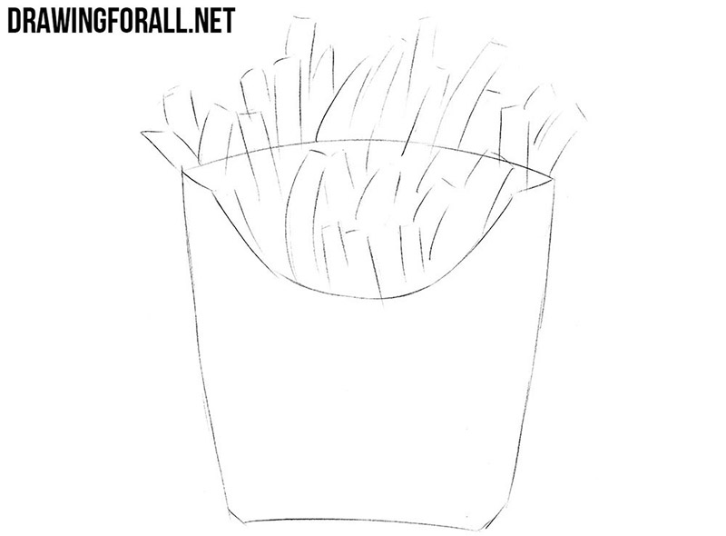 How to draw fast food