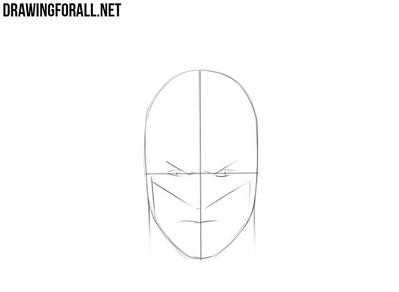 Batman face drawing tutorial