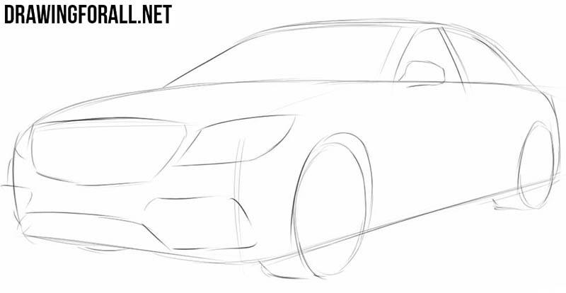 Рисунок автомобиля шаг за шагом