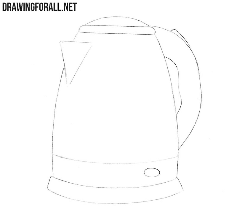Electric kettle drawing tutorial