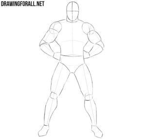 How to draw Superman step by step for beginners