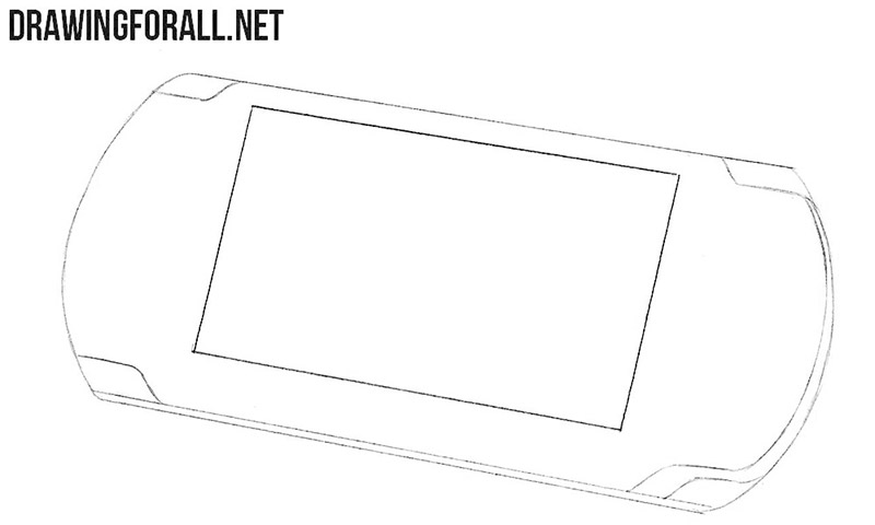 How to draw a Playstation Portable for beginners