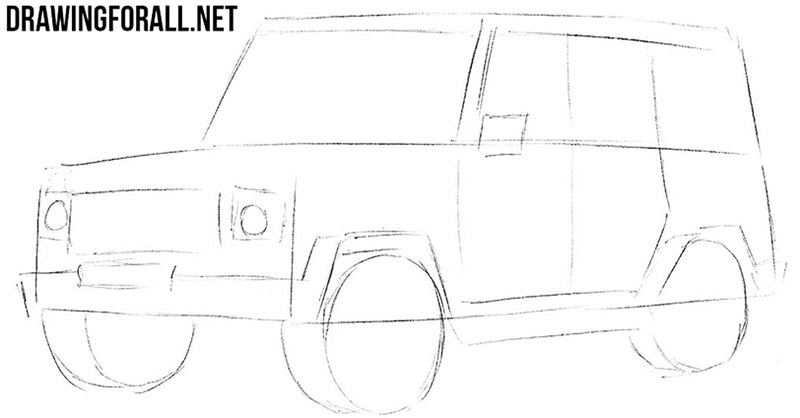 How to draw a SUV easy
