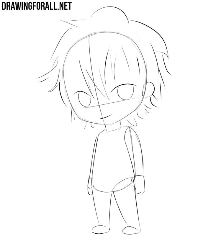 How to draw a chibi man