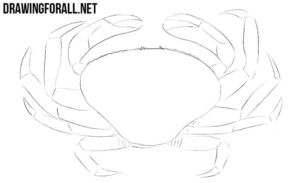 How to draw a crab easy