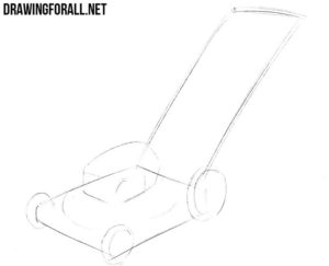 How to draw a grass-cutter step by step