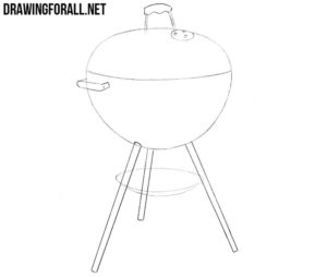 How to draw a grill step by step