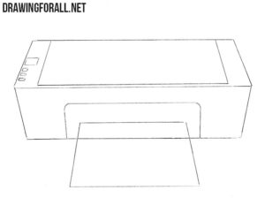 How to draw a printer easy