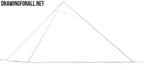 How to draw a pyramid shape