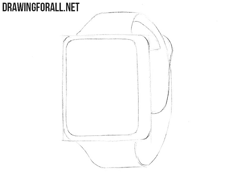 How to draw a smart watch easy