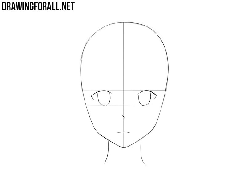 How to draw anime face step by step