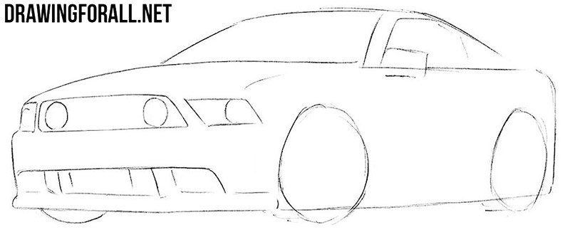 How to sketch a muscle car
