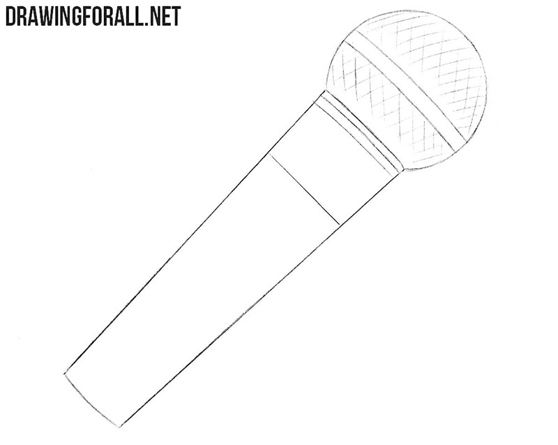 Microphone drawing tutorial