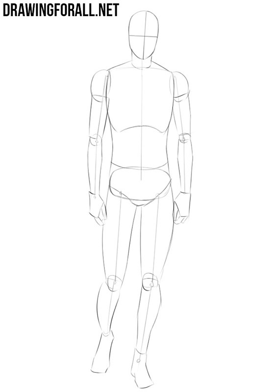 How to draw anime body step by step for beginners
